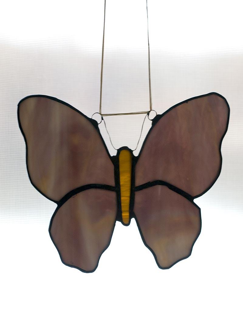 Tiffany pillangós ablakdísz