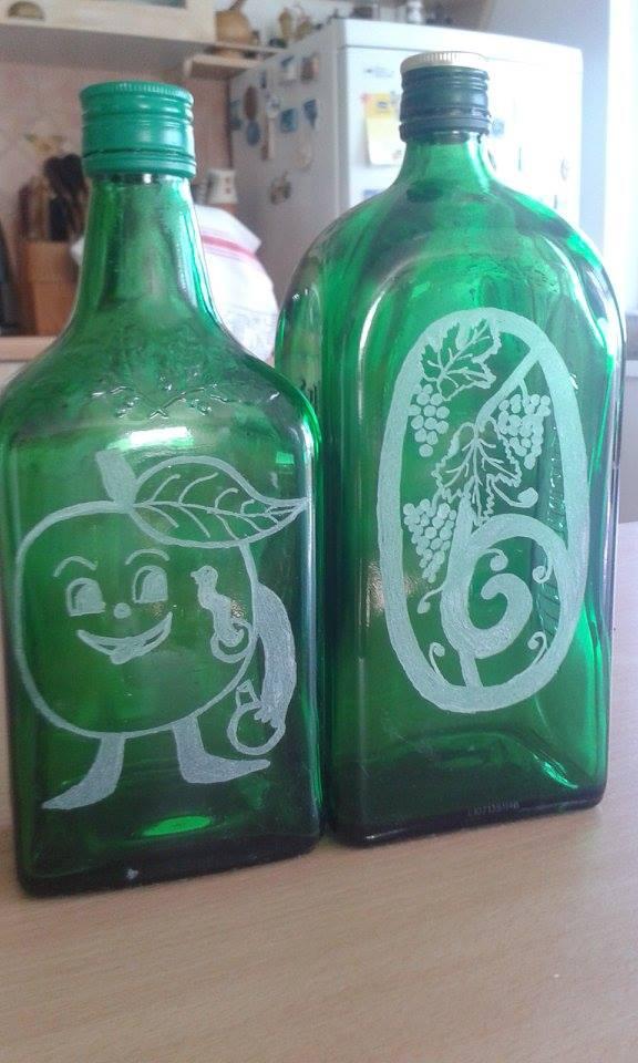 Gravírozott üvegek