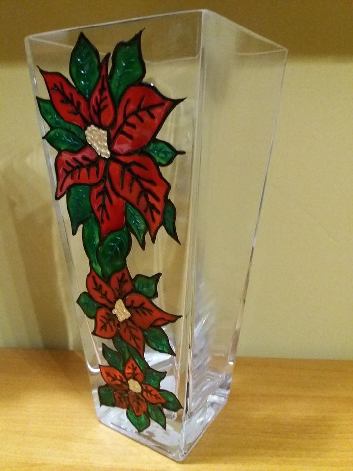 Mikulásvirágos váza