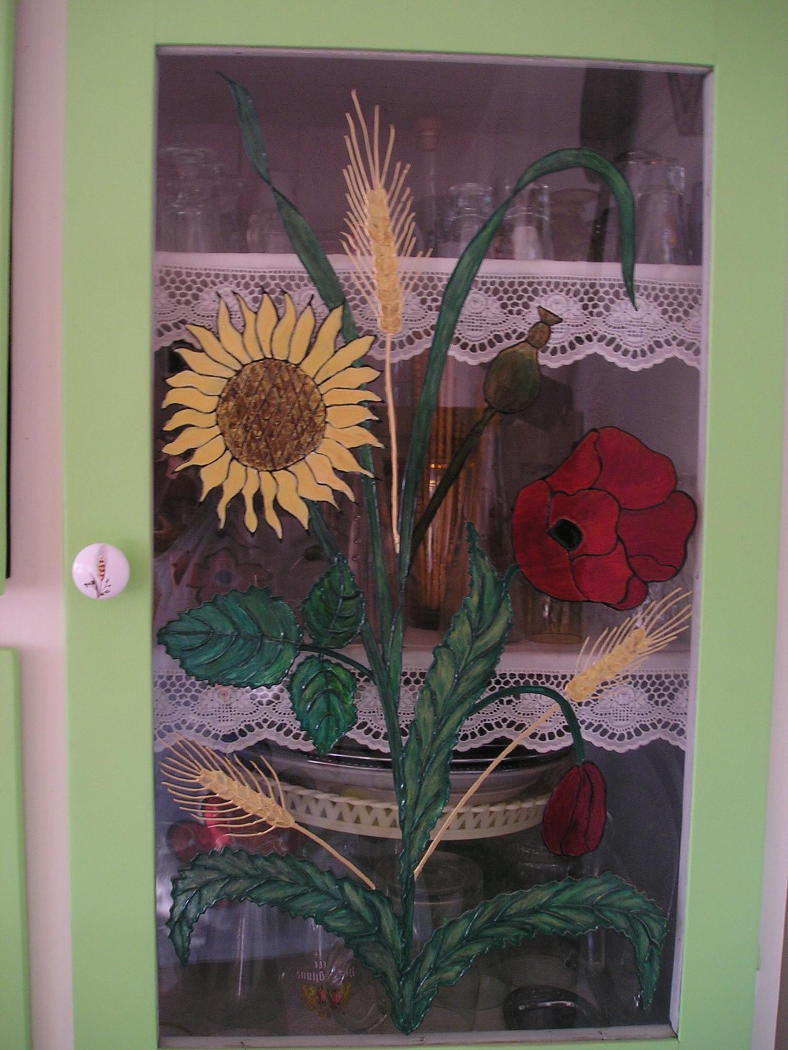 Pipacsos festett ajtó